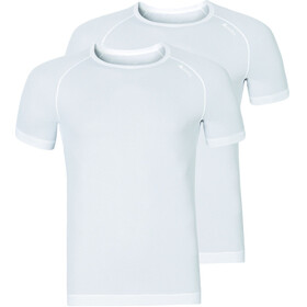 Odlo Active Cubic Light S/S Crew Neck Shirt Men 2 Pack white-snow white
